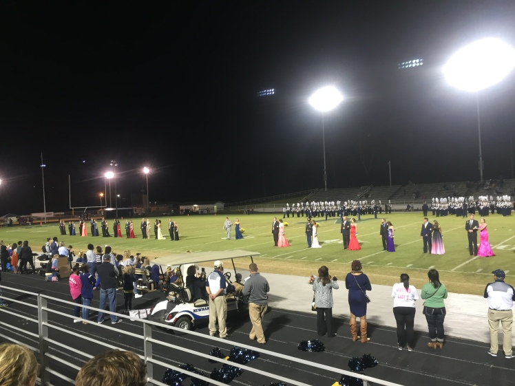 The homecoming court assembled on the football field. (PHOTO, Freeman)