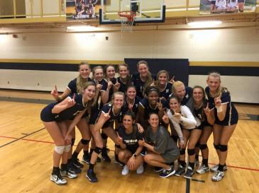 NHS Lady Cougars Volleyball Team after winning the County championship for the second year in a row. Bottom (left to right): Coach Krista Wilson and Coach Julia Lassetter. Middle (left to right): Anna Campbell, Callie Bass, Jensen Fitzgibbon, Crystal Burk, Hallie Goolsby, Rachel McDonal and Mary Beth Headley. Back (left to right): Madison Headley, Maggie Strickland, Katie Young, Taitum Boston, Olivia Masonheimer, Michelle Miller and Kayla Wagner. (Photo Courtesy of Megan Wagner)
