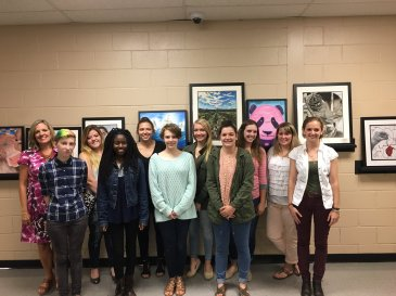 From Left to Right: Mrs. Hobbs, Lee Patterson, Isabella Barlow, Jalia Robinson, Leah Prisk, Kiley Anderson, Vivian Duncan, Chloe Gwinn, Courtney Lewis, Mrs. Jennings and Alexis Westrick. Not pictured: Kaitlenn Brown, Sharliett Cardenas, Alex Gonzalez, Autumn Lovingood, Kenya Powell and Taylor Whitaker.